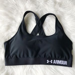 Under Armour black sports bra